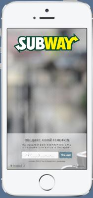 Пример страницы авторизации SubWay.